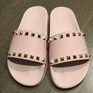 Valentino Authentic rock-stud rubber slides